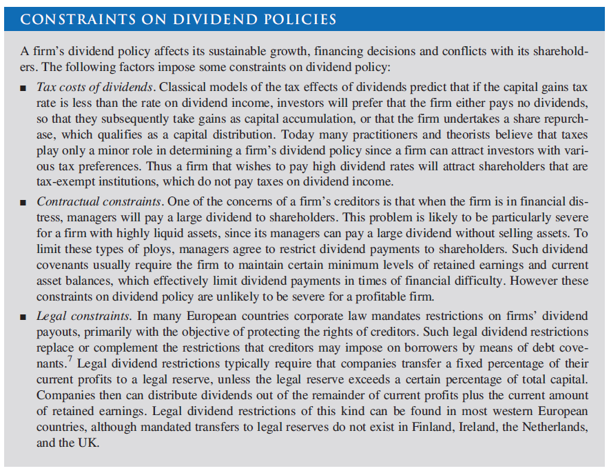 effect of dividend policies Effects of dividend policy on share price of firms listed at the nairobi securities exchange, kenya to investigate the effect of dividend policy (cash and.